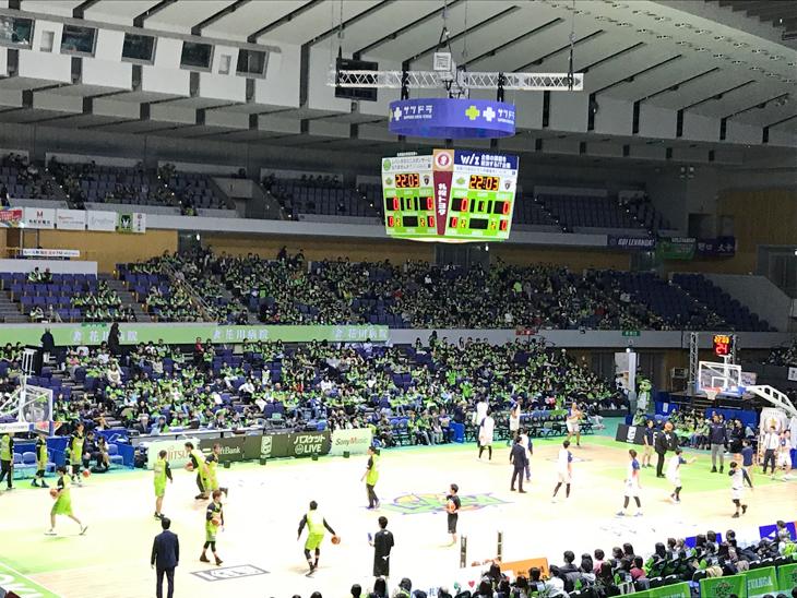 レバンガ北海道 vs 横浜ビー・コルセアーズ(第28節)